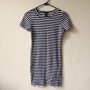 NWOT! F21 bodycon striped dress